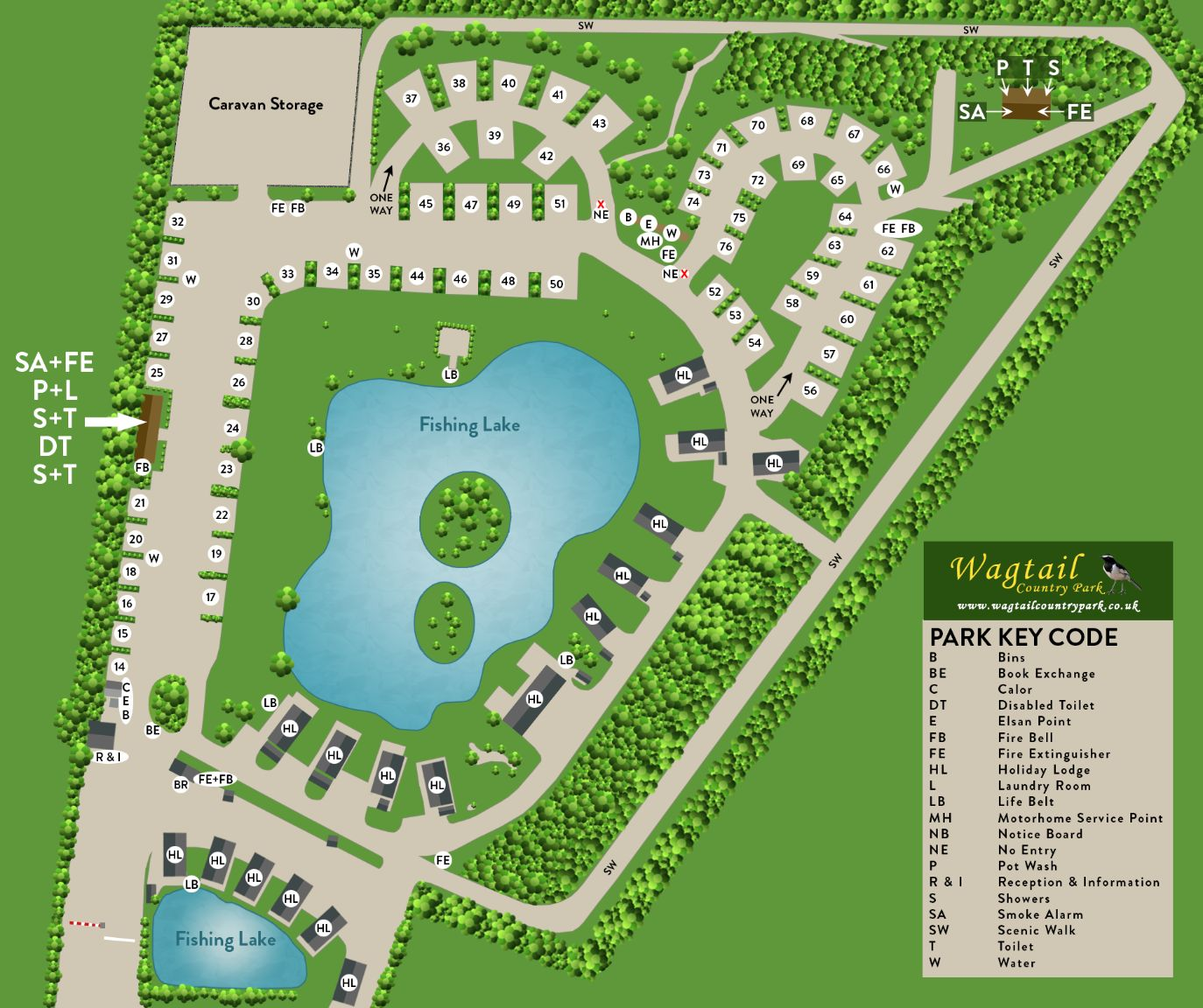 Wagtail Country Park Map